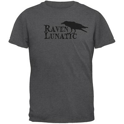 Halloween Raven Lunatic Dark Heather Adult T-Shirt (Heather Halloween)