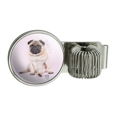 Pug Puppy Dog With Angel Wings Pink Pen Holder Clip For Planner Journal Book