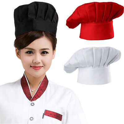 Professional Chef Hat Adjustable Elastic Baker Kitchen Cooking Hat Cap Welcome Business & Industrial