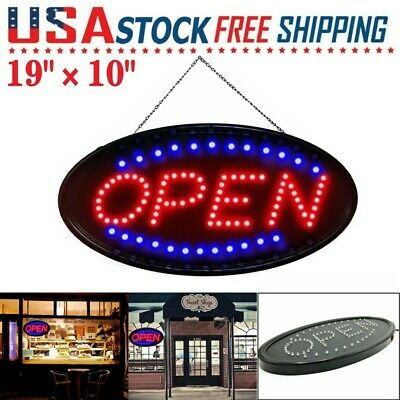 Animated Motion Ultra Bright Open Business Sign Store Led Neon Light Shop Onoff