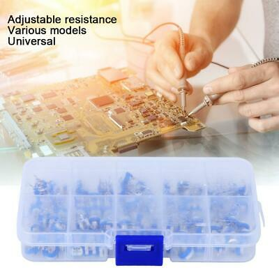 100pcs 10 Values Adjustable Resistor Resistors Kit Assortment Set With Box