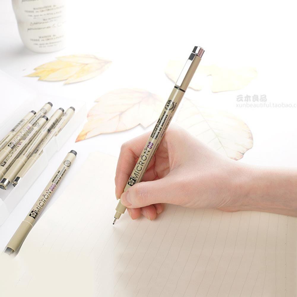 6x Set Fine Line Pen 005 01 03 05 08 BRUSH Kunsthandwerk Kunstbedarf