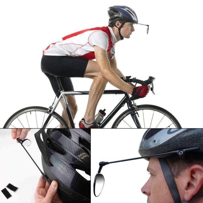 MTB Bicycle Rearview Mirror Cycling Helmet Rear View Back Rearview Safety Mirror