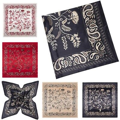 "New Women Silk Big Satin Square Large Scarf Bandana Wrap Printing Shawl 35""X35"""