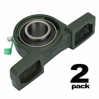 2 Pack Ucp205-16 Self-aligning Pillow Block Bearing 1inch Bore 2 Bolt Solid Base