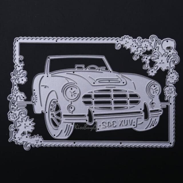 Car Metal Cutting Dies DIY Stencil Scrapbook Paper Card Decor Embossing Craft