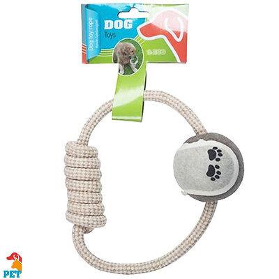 Corda e Palla Giocattolo Per Cane In Cotone Dog Toy Rope Accessori Animali
