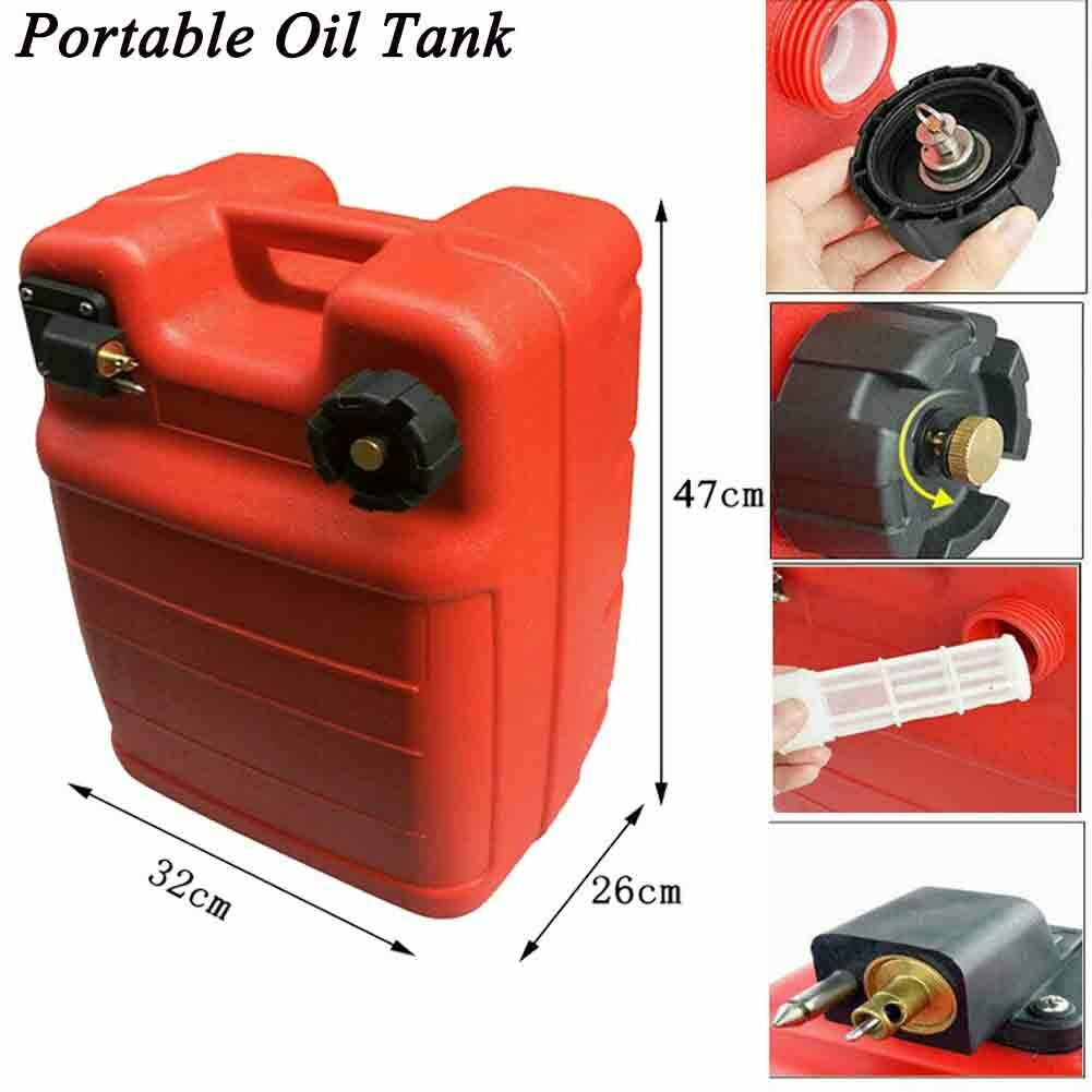 Details about 6 3 Gallon Portable Boat Fuel Tank Outboard Oil Tank for  Yamaha Ourtboard Boat