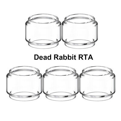 19.6mm Tall 5 Tubes 28mm OD 22mm ID Bulb Glass Tubing Clear Tube