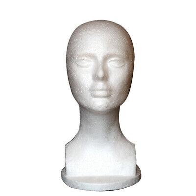 Male Female Mannequin Styrofoam Foam Manikin Head Wig Glasses Display Stand New