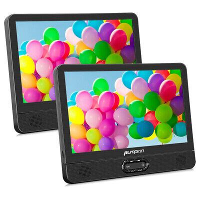 NEU 2X 12 Zoll HD Tragbar DVD Player Auto Kopfstütze Moniter SD AV IN/OUT AKKU ()