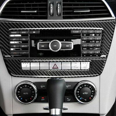 Carbon Fiber Interior Console Panel Cover Trim For Mercedes Benz C Class W204