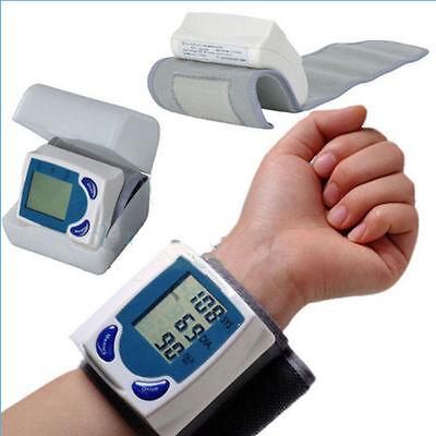 New Wrist Cuff LCD Digital Blood Pressure Pulse Monitor USA AW