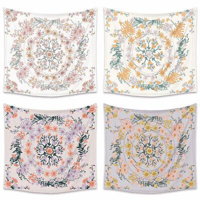 Bohemia Style Flower Wall Hanging Tapestry Blanket Carpet Backdrop Decor  Mgic Home & Garden
