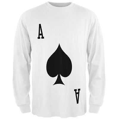 Halloween Ace of Spades Card Soldier Costume All Over Mens Long Sleeve T Shirt - Ace Of Spades Halloween Costume