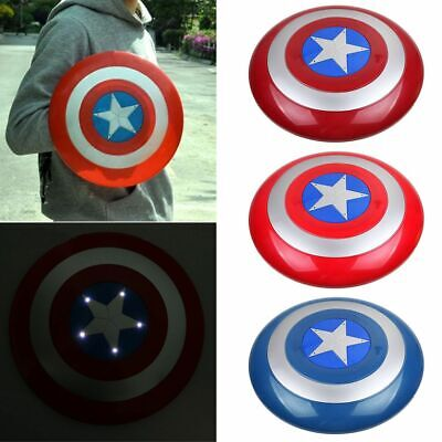 Avengers Captain America Schild 1:1 mit LED Licht & Sound Kinder Cosplay Kostüme ()