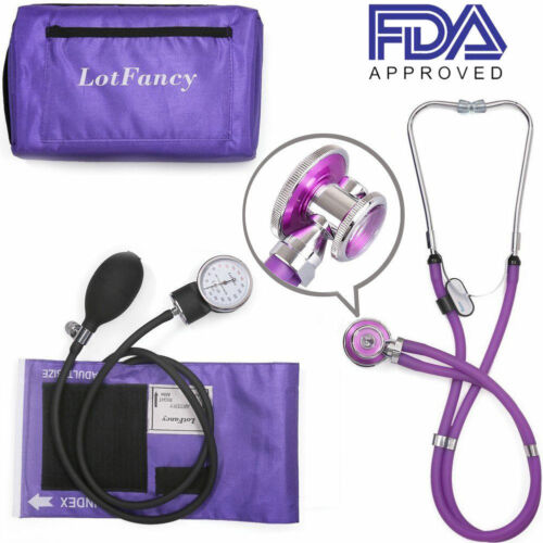 Blood Pressure Monitor BP Cuff Aneroid Sphygmomanometer Stethoscope Machine Test