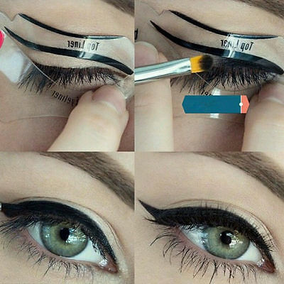 10 PCS Eyeliner Stencil Models Template Shaper Cat Eye Line Makeup Beauty ONMF