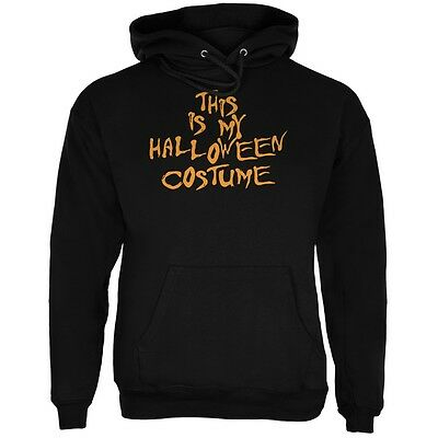 My Funny Cheap Halloween Costume Black Adult Hoodie