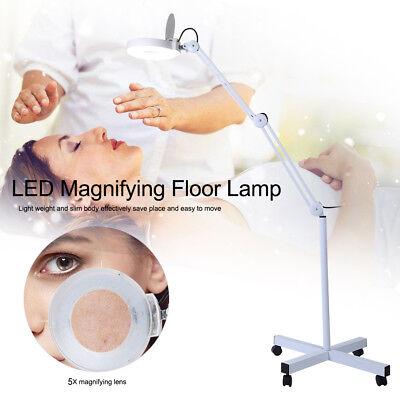 5 Dioptrien Glas-linse (15W LED Kaltlicht Lupenleuchte Lupenlampe 127mm Glaslinse 5 Dioptrien Stativ LM)