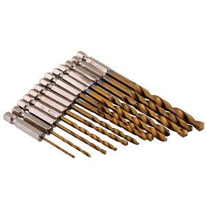 New Cobalt HSS 13pcs Hex Shank Quick Change Titanium Drill Bit Set 1.5-6.5mm