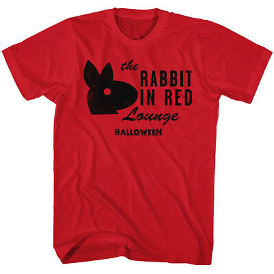 Halloween The Rabbit In Red Lounge Adult T Shirt Great Scary Movie