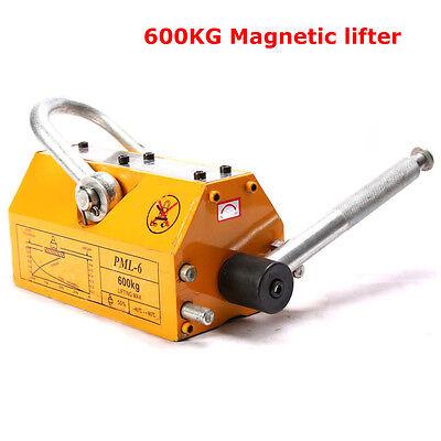 Hot 600kg 1320lb Heavy Duty Steel Lifting Magnet Magnetic Lifter Hoist Crane
