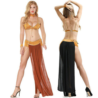 Lizenz Star Wars Prinzessin Leia Sklavin Kostüm Karneval Slave Fasching Set Neu