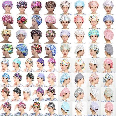68 Kinds Men Women Doctor Nurses Printing Scrub Cap Medical Surgical Surgery Hat