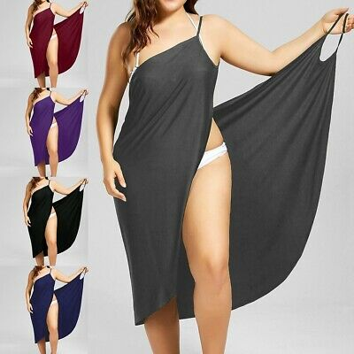 Cover-up Wrap-skirt (Women Swimwear Scarf Beach Cover Up Wrap Sarong Sling Skirt Maxi Dress Plus Size)