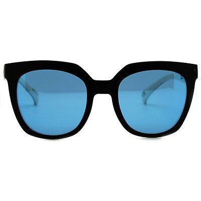 "NEW ADIDAS ORIGINALS Black/Blue/White ""OVERSIZED"" Mirror Sunglasses -SALE"