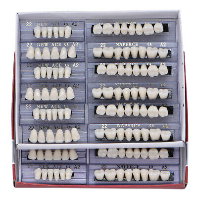 168pc Dental Acrylic Resin Denture 22 A2 Full Set Teeth Upper Lower Shade Tooth