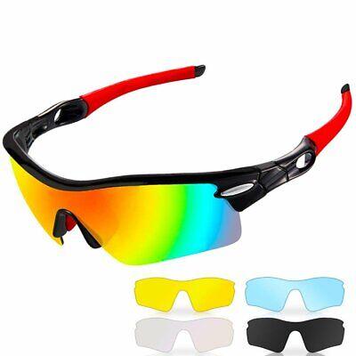 CrazyFire Gafas Ciclismo Polarizadas Gafas de Sol Deportivas con 5 Lentes NUEVAS