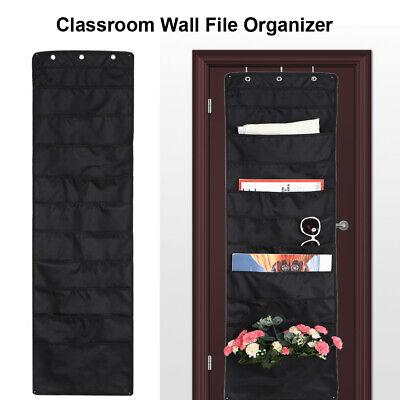 10 Fabric Pockets File Hanging Organizer Storage Organizer Wall Mount Pocket