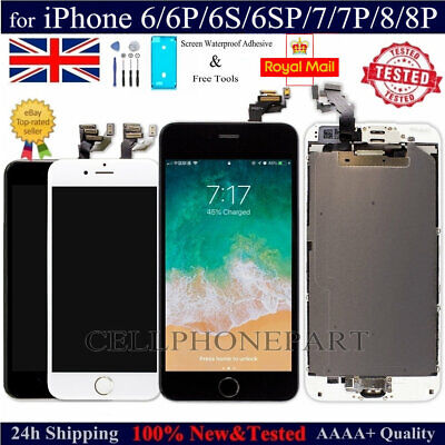 For iPhone 6 6S 7 8 Plus LCD Display 3D Touch Screen Replacement Assembly Camera