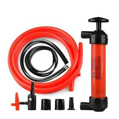 Portable Siphon Pump Car Manual Fuel Gas Transfer Oil Liquid Hand Air Kit New