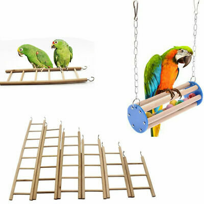 Bird Parrot Toy Swing Ladder Stair Chewing Playground Gym Macaw Birds Play (Swing Toy)