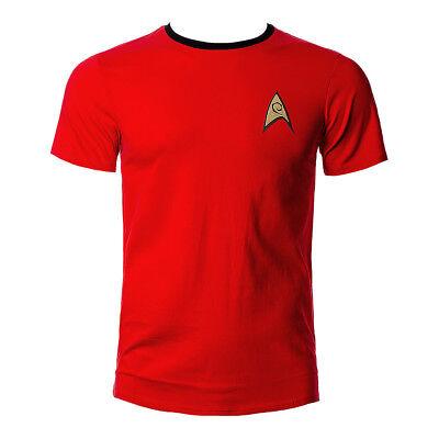 Star Trek Uniform T Shirt Retro Top Tshirt Enterprise Scotty Rot Kostüm - Star Trek Rote Uniform Kostüm