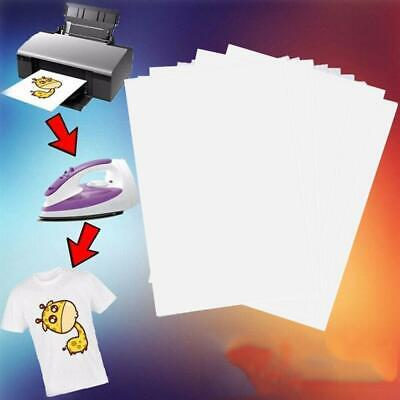 10pcs T-shirt Print Iron-on Heat Press Lightdark Fabrics Inkjet Transfer Paper