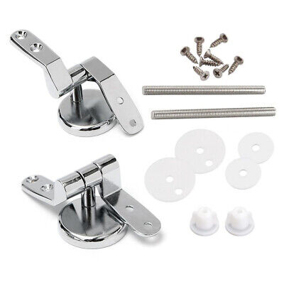 Universal Replacement Toilet Seat Hinges Mounting Set with Fittings Screws 1set
