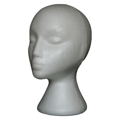 Styrofoam Foam Mannequin Wig Head Display Hat Cap Wig Holder White Foam Head New