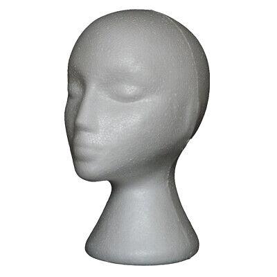 Styrofoam Foam Mannequin Wig Head Display Hat Cap Wig Holder White Foam Head New