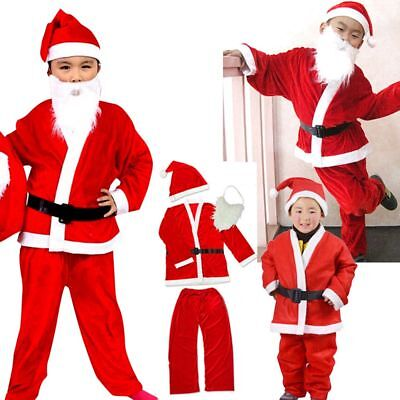 Santa Suit Costume - Kids Mens Xmas Claus Funny Fancy Dress Christmas Costume](Santa Suit Kids)