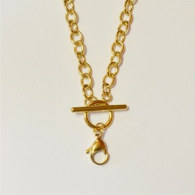 18 inch Gold-Plated Stainless Steel Toggle Chain for Floating Locket (PC111-G)