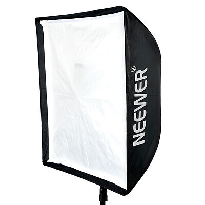 Neewer 60x60cm Black / Silver Umbrella Softbox for Speedlite / Studio Flash