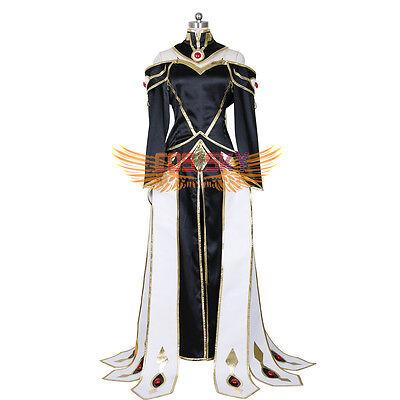 Halloween Code Geass: Lelouch of the Rebellion C.C. Queen dress Cosplay - Halloween Costumes C
