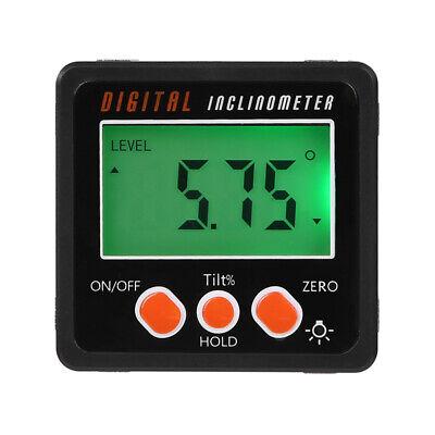 Precision Digital Protractor Gauge Level Angle Inclinometer Magnet Base Us
