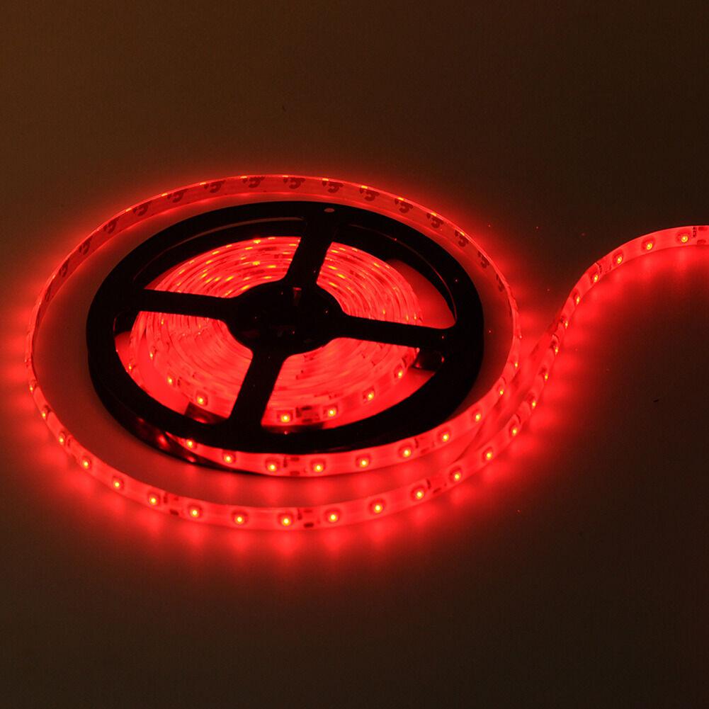 Flexible Led Light Strip 3528 Smd 12 Volt Quality Lighting: Red 5M Waterproof 300 LED 3528 SMD Flexible LED Light Lamp