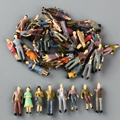 100 O Scale People Figures Mixed Color Pose 1/50 For Model Train Scenery Layout for sale  Shipping to Ireland