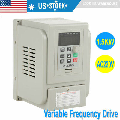 8a 1.5kw Vfd Variable Frequency Drive Inverter Speed Controller Converter Ac220v